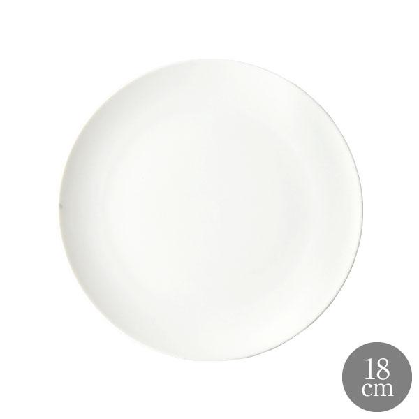 食器 白 器 陶器 オリジナル 割り引き 切立皿 おしゃれ 恵比寿に実店舗あります モワッソン LA ラ レストラン 18cm 販売 MOISSON ラウンドプレート