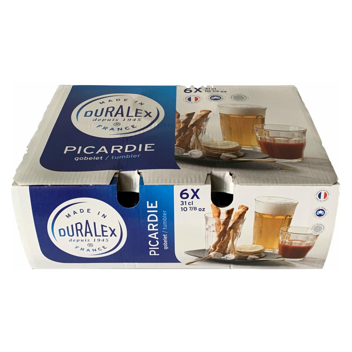 DURALEX デュラレックス ピカルディー クリア フランス グラス 透明 310ml 割引食器 箱入り 6個セット 30%off 30%OFF テレビで話題 セール 迅速な対応で商品をお届け致します SALE