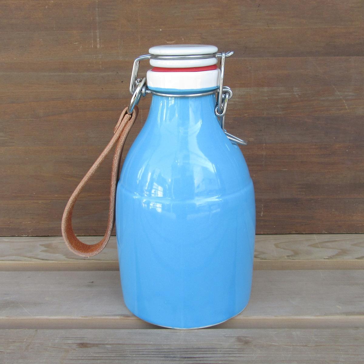 【全商品オープニング価格 特別価格】 Portland Growler Smoothneck ポートランド グラウラー グロウラー クラフトビール スムースネック 32オンス Gloss BLUE グロスブルー, LA KONECT 2cc1fae7