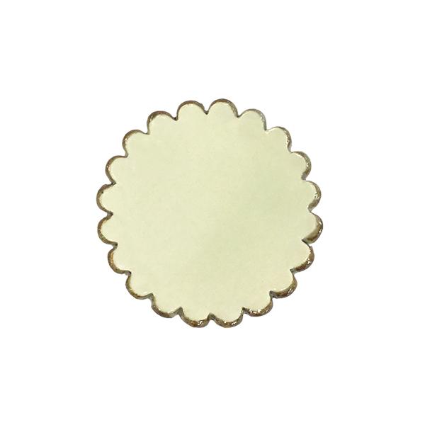 箸置き 祝日 カトラリーレスト !超美品再入荷品質至上! おしゃれ かわいい 陶器 箸置き-花縁取 万作セレクト 信楽焼