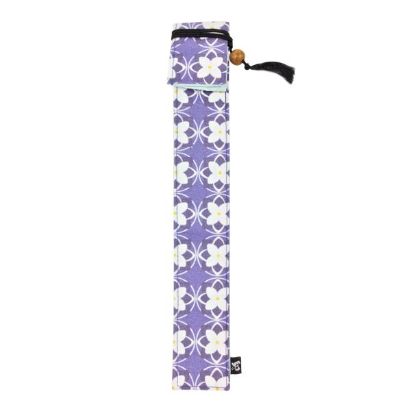 マイ箸 箸入れ 買い物 マイ箸包み 箸ケース はし 中古 独創和柄長型箸袋-紫陽花 箸包み 青 お箸袋