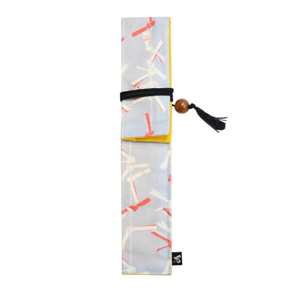 箸の持ち運びに便利な箸袋です 箸袋 箸ケース マイ箸 2020春夏新作 おしゃれ 全国一律送料無料 和 どくそうわがらなががたはしぶくろ-おみくじ 和風 独創和柄長型箸袋-御神籤