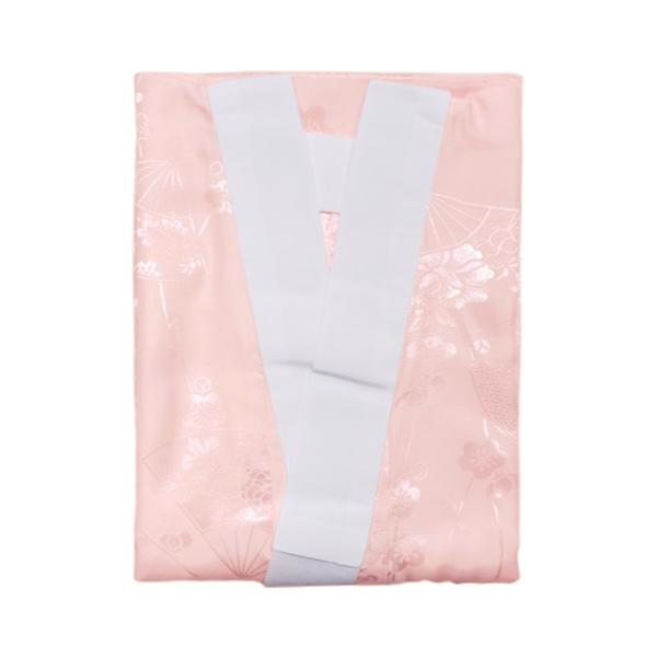 【長襦袢】振袖用長襦袢 振袖 半衿付き 襦袢 地紋入り 洗える 女性 ピンク