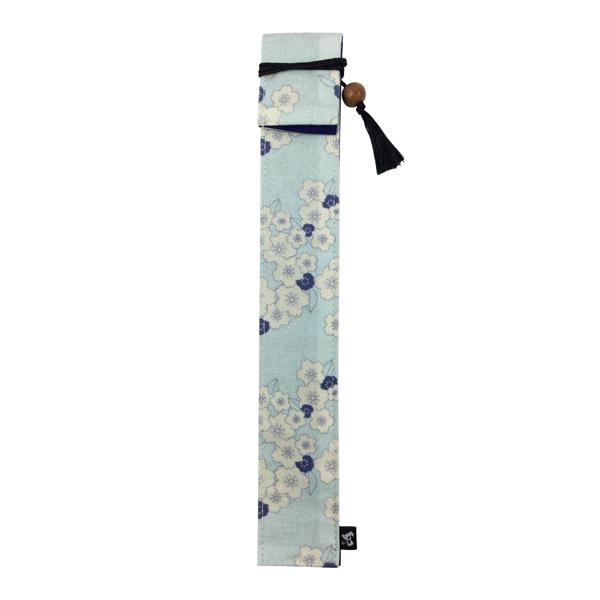 マイ箸 箸入れ マイ箸包み ついに入荷 箸ケース はし 独創和柄長型箸袋-散桜-青 お箸袋 箸包み 高級