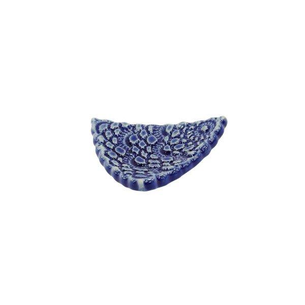 箸置き カトラリーレスト おしゃれ 限定特価 陶器 新作製品、世界最高品質人気! レース京焼 清水焼箸置き-紺藍