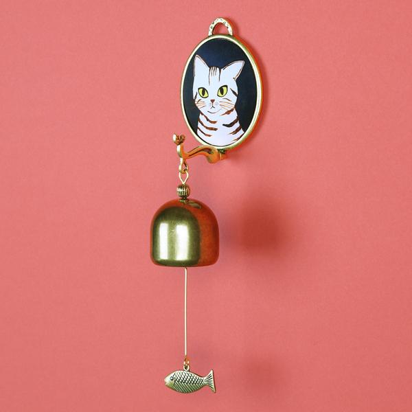 猫 ねこ ネコ ドアベル インテリア 玄関 プレゼント かわいい 猫のドアベル-白茶トラ猫 雑貨 日本限定 誕生日 KANNEKO ギフト 2020 猫まっしぐらセレクト グッズ ネイビー