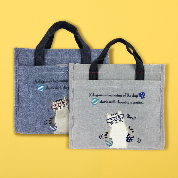 猫 ねこ ネコ トートバック バッグ プレゼント かわいい ギフト グッズ 再入荷 ●日本正規品● 予約販売 誕生日 猫のランチバッグ-ネコザワ部長 雑貨 ネコまるけ 猫まっしぐらセレクト