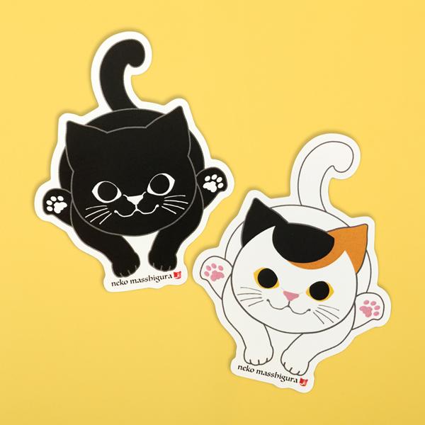 輸入 猫まっしぐらオリジナルのにゃんこ達のステッカーです 黒猫 三毛猫 猫 ねこ ネコ クリアランスsale 期間限定 ステッカー シール ギフト 誕生日 グッズ プレゼント かわいい 猫まっしぐら特製ステッカー まっしぐら 雑貨