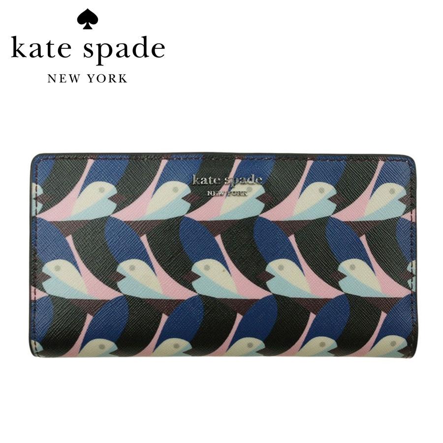 ケイトスペードならではのプリント使い コンパクトなのも ケイトスペード セール特価品 KATE SPADELARGE SLIM BIFOLD WALLET ブランド買うならブランドオフ CAMERON GEO BIRDSキャメロン ジオ 財布 バイフォルド ウォレットMULTI コンパクト ラージ バード マルチ レディース スリム 鳥 二つ折り