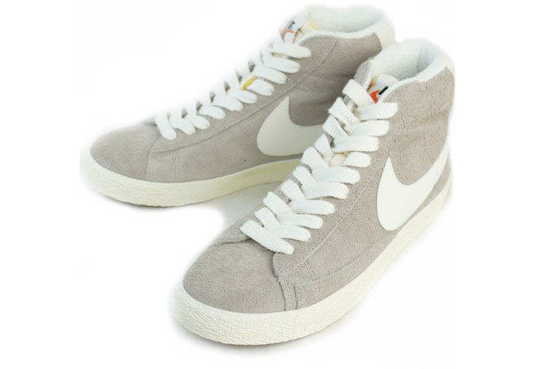 NIKE Nike BLAZER MID SUEDE VNTG Blazer mid suede vintage MED OREWOOD  BRN/SAIL (light grey/off white) sneakers basketball women's shoes beige grey
