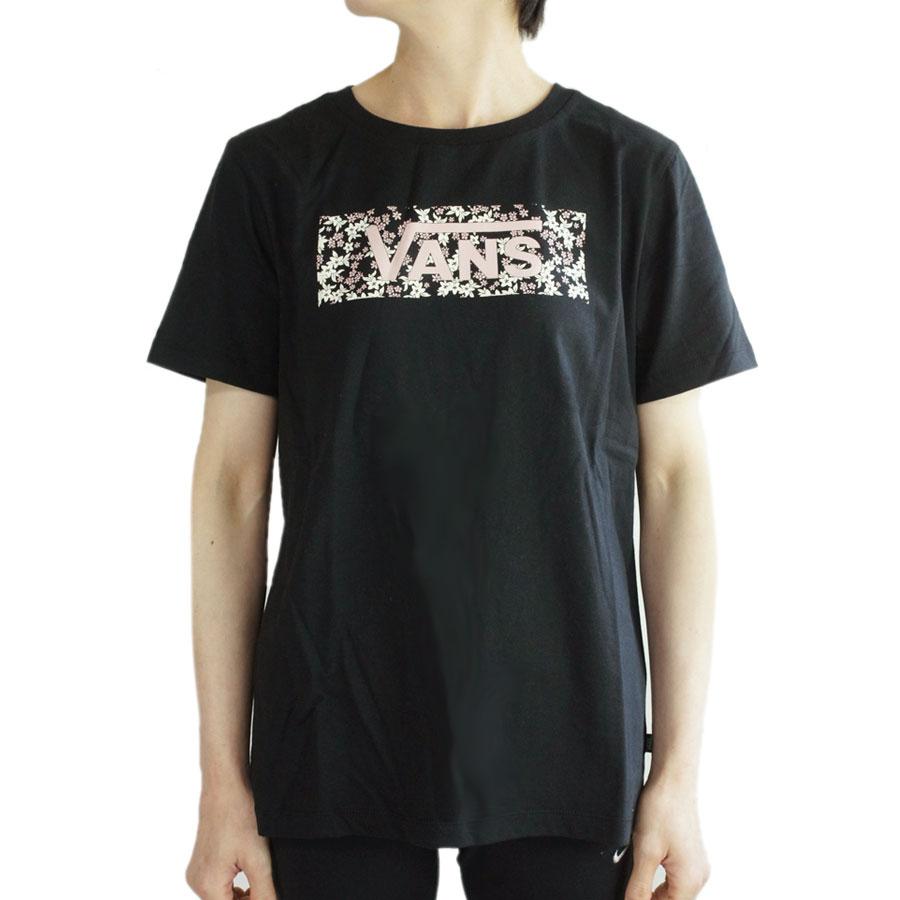 特売 VANSからボックスロゴが入荷 バンズ TシャツVANS 情熱セール ヴァンズ MINI FLORAL BOX ブラック 花柄 ボックスロゴ TSHIRTS ロゴ TEEミニフラワーボックスTシャツBLACK トップス