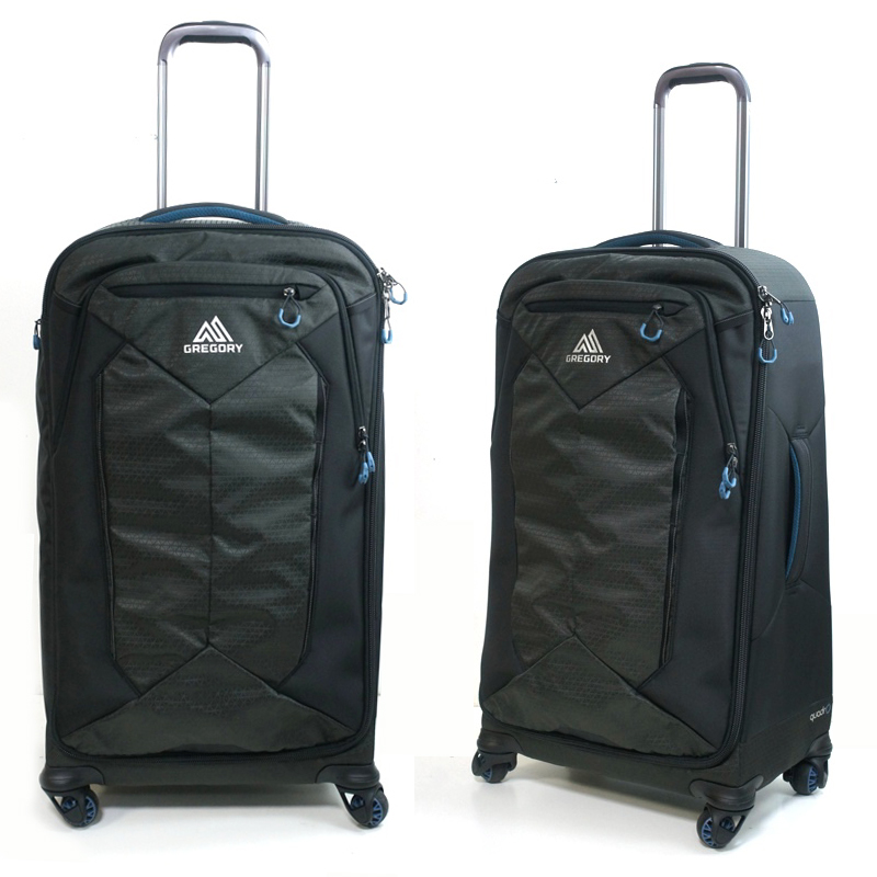 GREGORYグレゴリーQUADRO ROLLER 30クアドロ ローラー 30SLATE BLACK(スレートブラック)男女兼用 旅行 スーツケース 黒 ダッフルバッグ