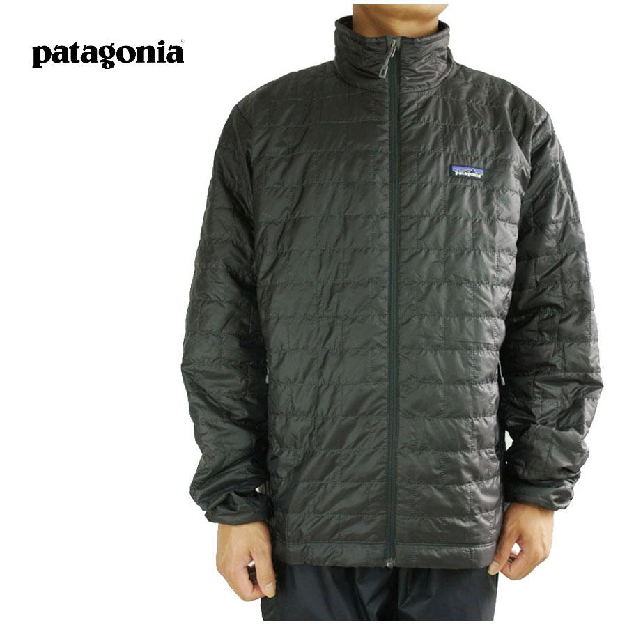 パタゴニア Patagoniaメンズ ジャケットMEN'S NANO PUFF JACKETメンズ ナノパフジャケットBLACK(ブラック)ナイロンジャケット ダウンパーカー 黒 灰色