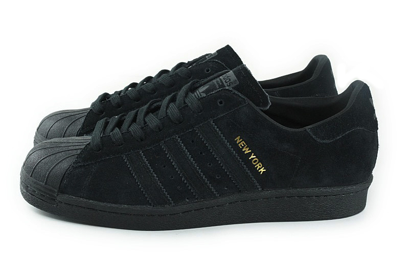adidas superstar black suede