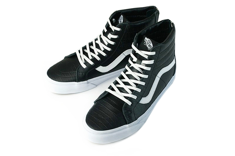 vans high black leather