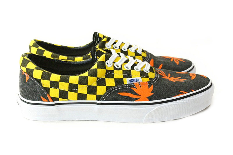 Men's Era Doren Orange Palm/Yellow Checkered Skateboarding Shoes