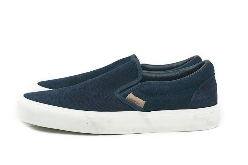 3520de9dc6 VANS station wagons vans CLASSIC SLIP ON CA classical music slip-ons  California line (KNIT SUEDE)DRESS BLUES (knit suede dress blue) Lady s  shoes shoes ...
