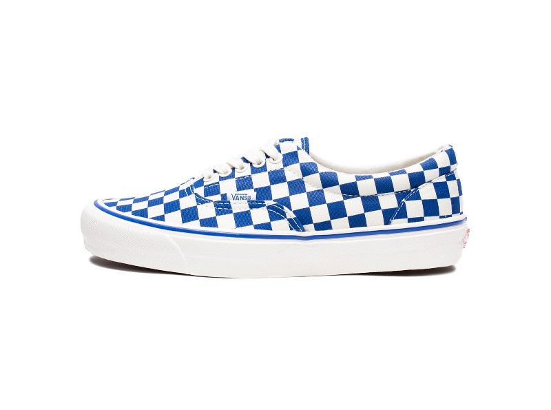 blue and white checkerboard vans