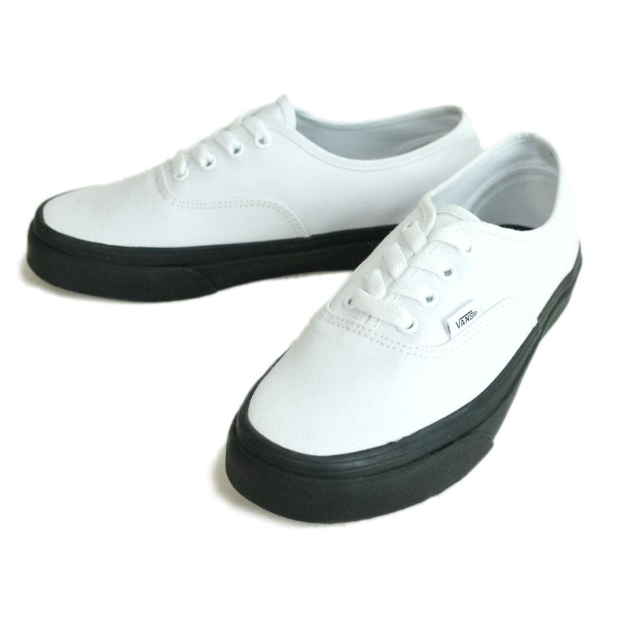 bf41c4d369 Authentic vans VANS station wagon gap Dis sneakers AUTHENTIC (BLACK  OUTSOLE)TRUE WHITE (blackout sole / toe roux white) women low-frequency cut  black ...