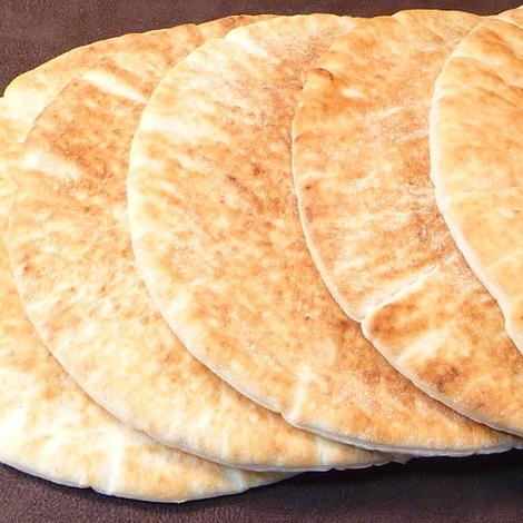 ピタパン(冷凍パン)7インチサイズ 10枚入り☆手作りピタサンドに♪ -PI017