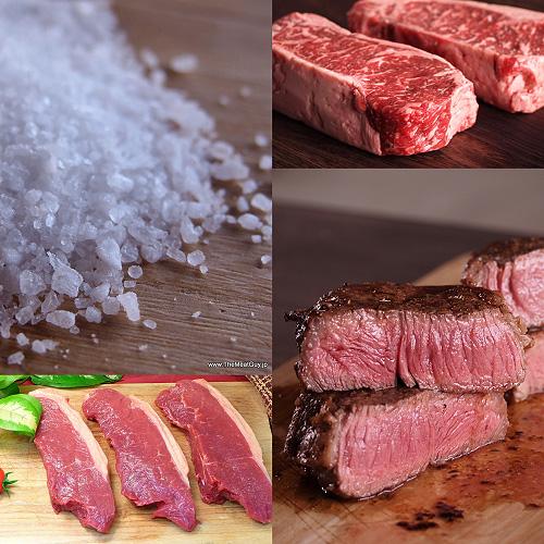 ステーキ肉 (実質20%OFF) サーロインステーキ食べ比べセット 3種類6枚+海塩グロッソのおまけ付 牛肉ステーキ(焼肉 焼き肉) セット(バーベキュー BBQ)