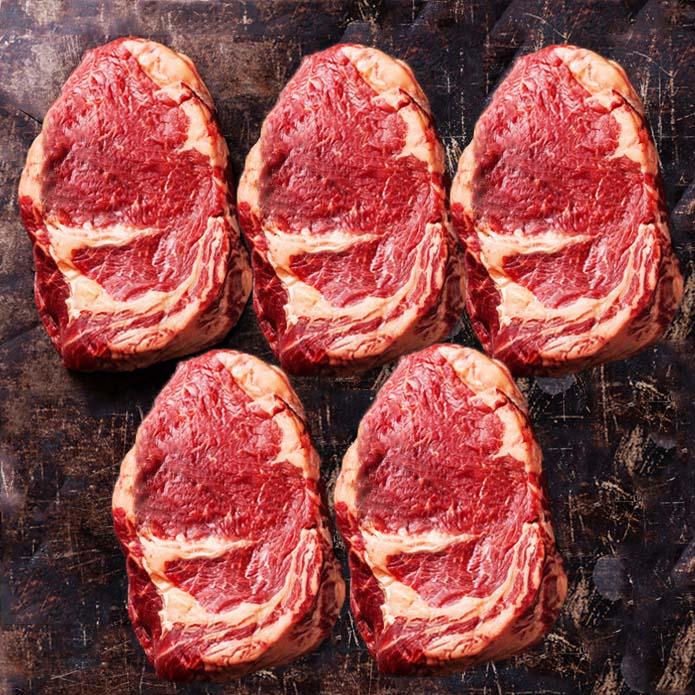 ステーキ肉 ニュージーランド産リブロースステーキ 270g お買い得!5枚セット グラスフェッドビーフ