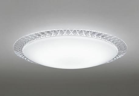 一部地域除き送料無料【ODELIC オーデリック】『OL251699』LED 照明 シーリングライト 天井 居間 リビング 12畳 洋風 リモコン付 調光 アクリル 乳白 ダイヤカット模様 透明 タイマー