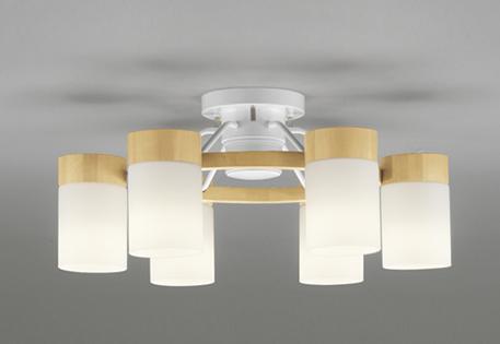 ☆【ODELIC オーデリック】【 OC257063LC 】送料無料 LED 照明 シャンデリア おしゃれ かわいい 人気 天井 居間 リビング インテリア ゴージャス 8畳 6灯 洋風 ガラス 白 ホワイト リモコン付 調光 鋼 木材 ナチュラル 乳白