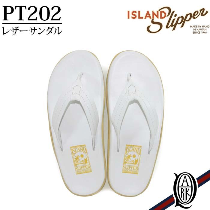 【正規取扱店】ISLAND SLIPPER PT202 WHITE ホワイト レザーサンダル トング アイランドスリッパー クラッシック メンズ レディース