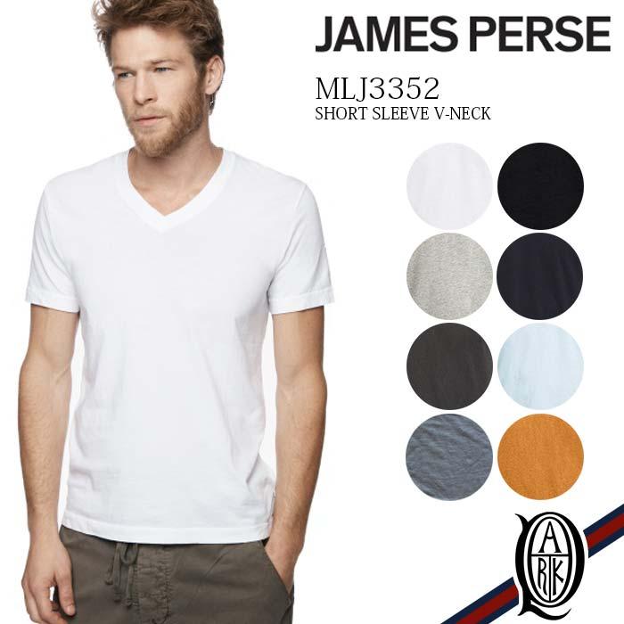 【正規取扱店】JAMES PERSE MLJ3352 半袖Vネックカットソー 8色 メンズ ベーシック (ジェームスパース MENS BASIC)