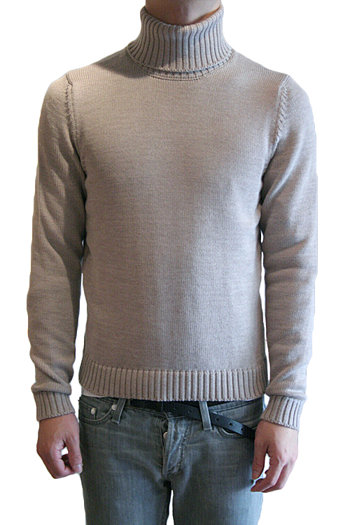 【正規取扱店】ZANONE DV-MAN SWEATERS TURTLE NECK GREY BEIGE Z1590 (ザノーネ)