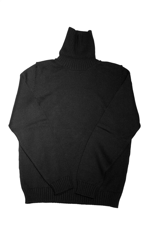 【正規取扱店】ZANONE DV-MAN SWEATERS TURTLE NECK BLACK Z0015 (ザノーネ)