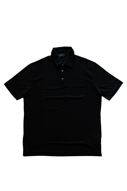 【正規取扱店】ZANONE アイスコットンポロシャツ 811818 Polo Shirt ice cotton Z0015 BLACK (ザノーネ)