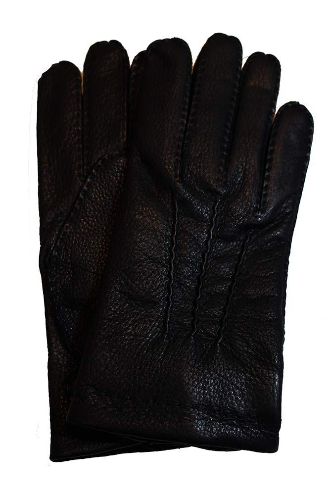 【正規取扱店】DENTS フロントボタンレザーグローブ M5-1547 Deerskin BLACK(ブラック) (デンツ)