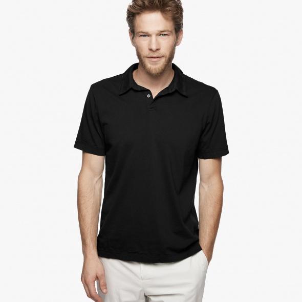 【正規取扱店】JAMES PERSE MSX3337 メンズポロシャツ ブラック (ジェームスパース)