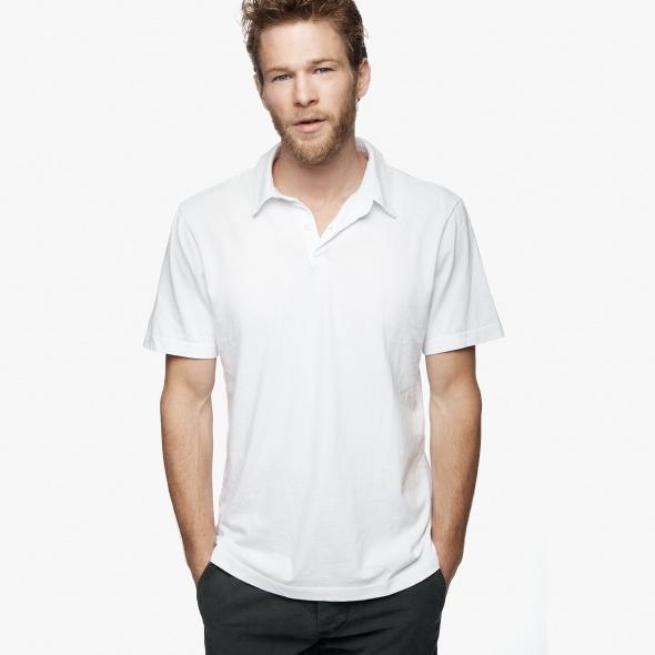 【正規取扱店】JAMES PERSE MSX3337 メンズポロシャツ ホワイト (ジェームスパース)