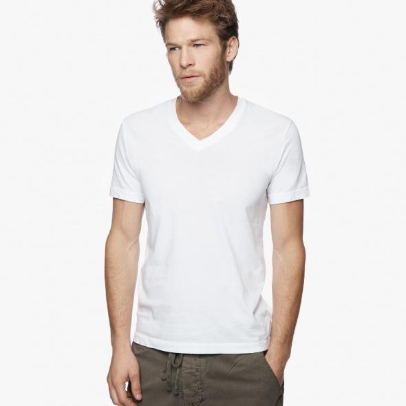 【正規取扱店】JAMES PERSE MLJ3352 メンズ半袖Vネックカットソー ホワイト (ジェームスパース)