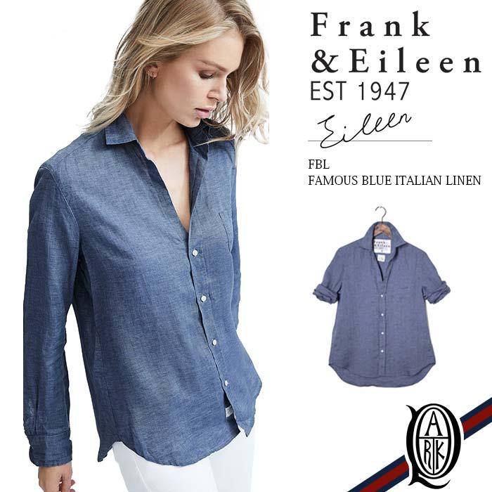 【正規取扱店】Frank&Eileen EILEEN FBL レディースシャツ FAMOUS BLUE ITALIAN LINEN フランクアンドアイリーン エイリーン