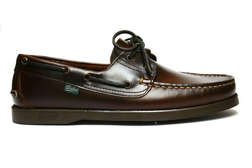 Paraboot (parabots) BARTH 甲板鞋栗子美國棕色和深棕色