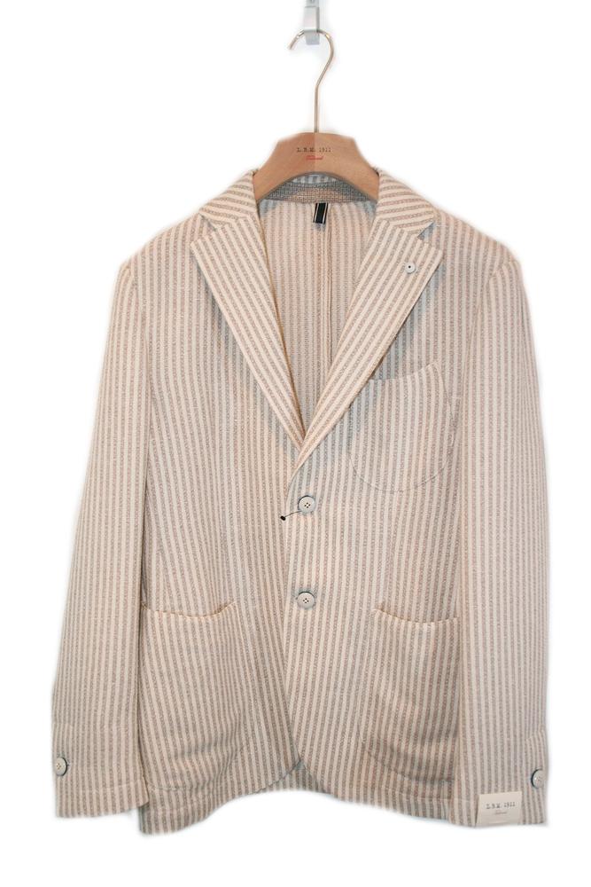【正規取扱店】L.B.M.1911 16S/S コットン サマーツイード 2Bジャケット BEIGE (エルビーエム1911)