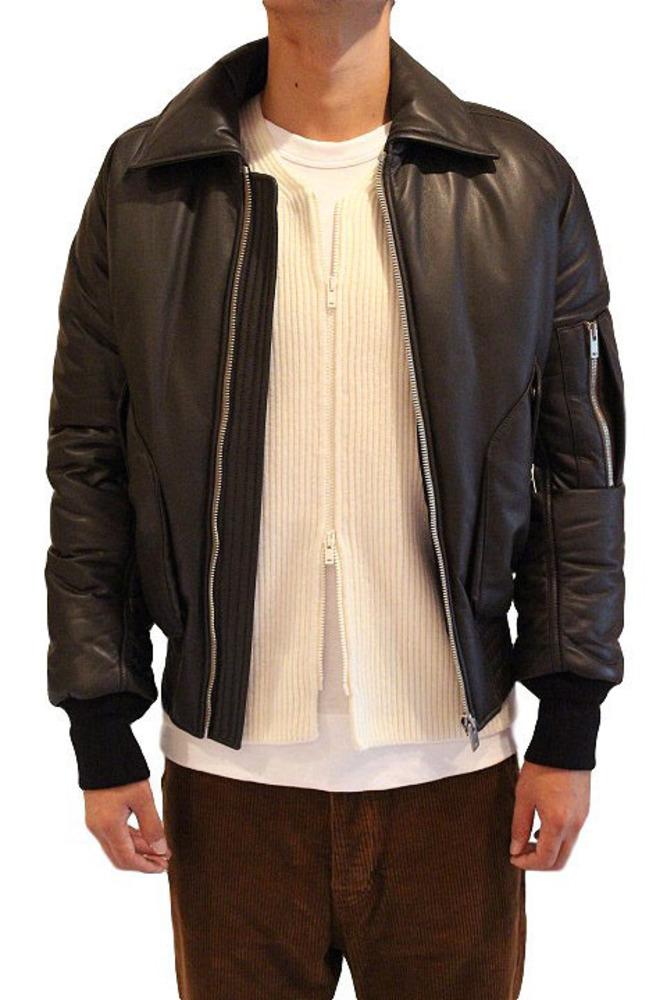 【正規取扱店】Maison Margiela 16-17A/W レザーボンバージャケット DARK BROWN (メゾンマルジェラ)