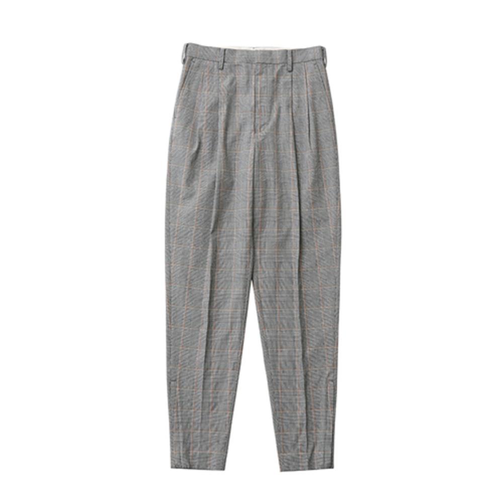 【正規取扱店】beautiful people 17S/S c/nylon glen check tucked pants light grey (ビューティフルピープル)
