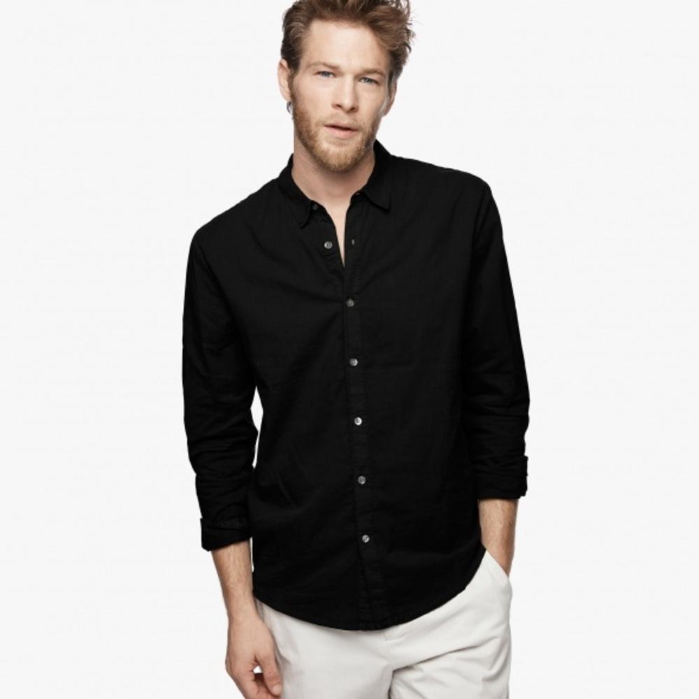 【正規取扱店】JAMES PERSE MLC3408 メンズ長袖シャツ BLACK (ジェームスパース)