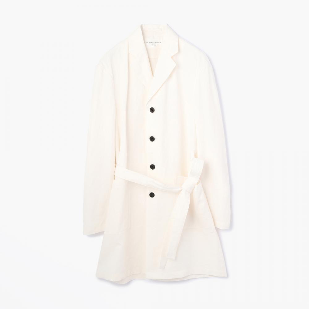 【正規取扱店】TOMORROWLAND 17SS リネントロピカル シャツコート WHITE (トゥモローランド)