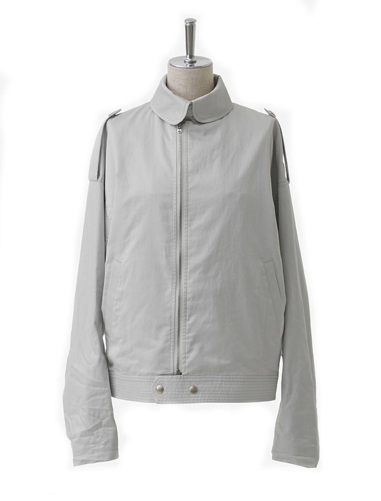 【正規取扱店】beautiful people 17S/S finx cotton satin french flight jacket light gray (ビューティフルピープル)