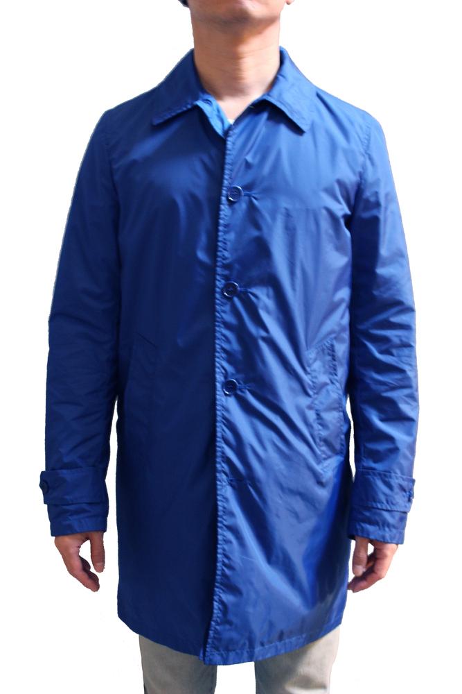 【正規取扱店】ASPESI アスペジ LEMON SLIM SUMMER ナイロンステンカラーコート BLUE