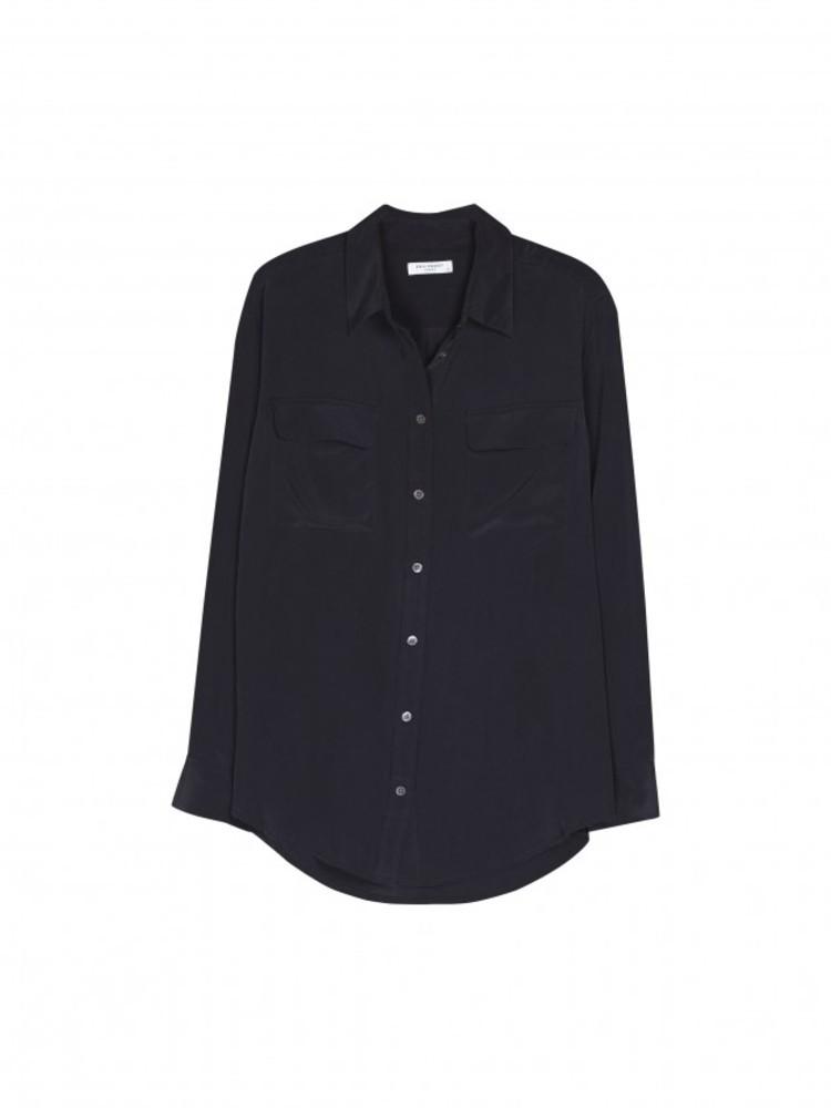 【正規取扱店】EQUIPMENT SIGNATURE 定番シルクシャツ BLACK (エキプモン)