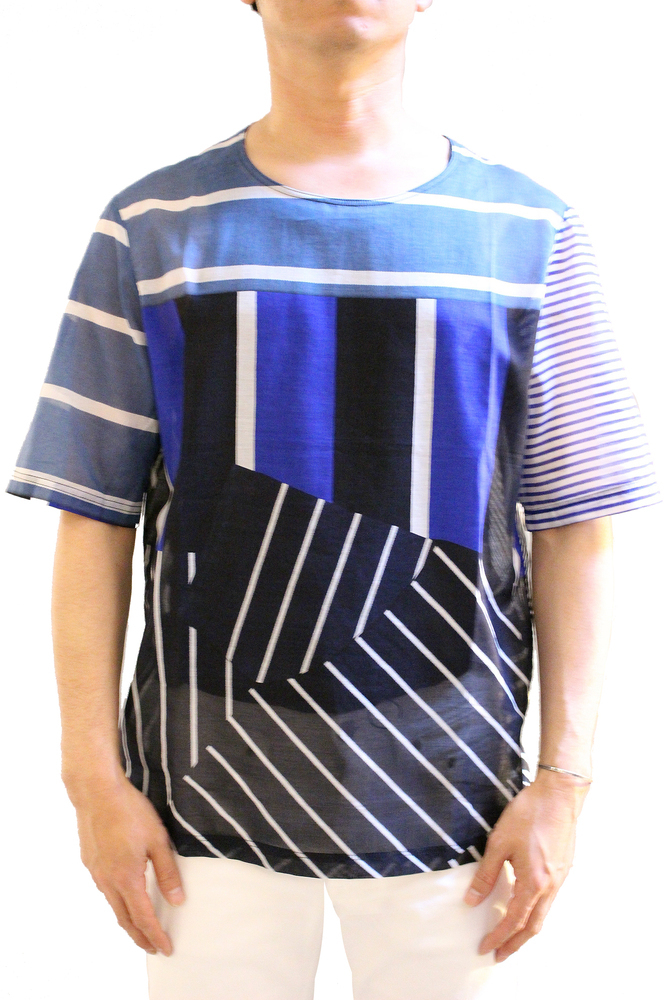 【正規取扱店】PIERRE LOUIS MASCIA ピエールルイマシア STICH コットンプルオーバーシャツ 39651 マルチ