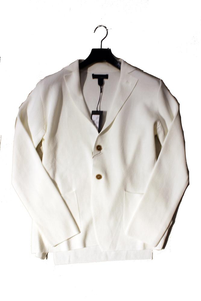 【正規取扱店】LARDINI ラルディーニ 17S/S ミラノリブジャケット WHITE