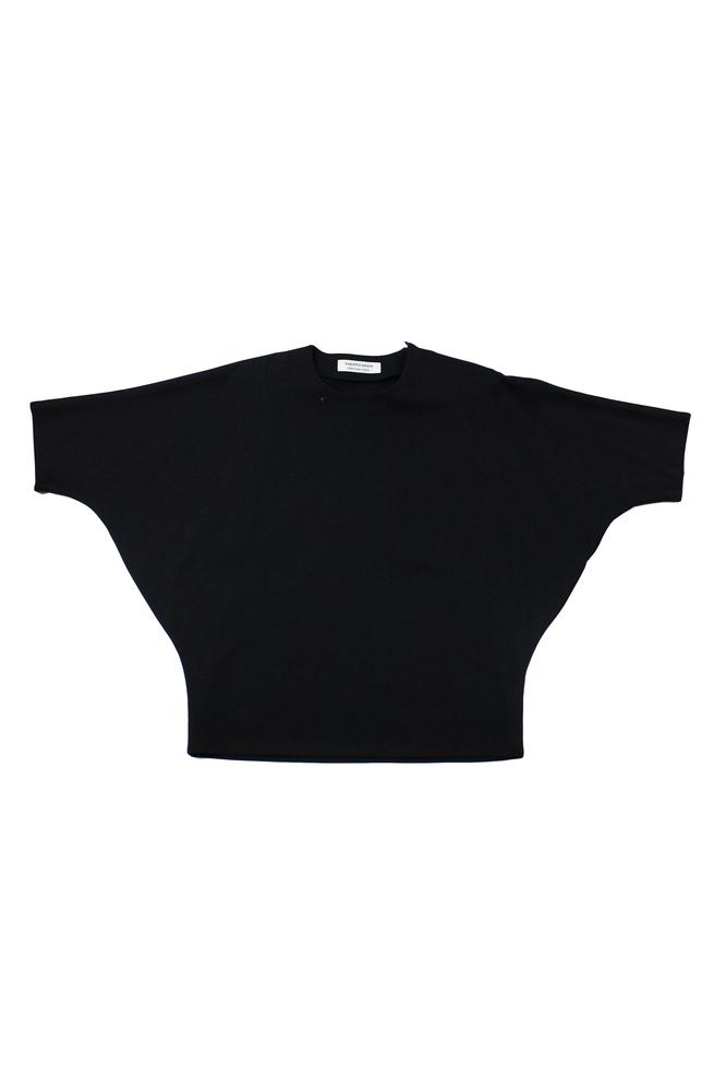 【正規取扱店】【40%OFF】beautiful people ビューティフルピープル 17-18A/W silky ponti cotton dolman top black